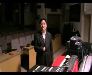 录音师协会教育委员会主任王明臣教授致词